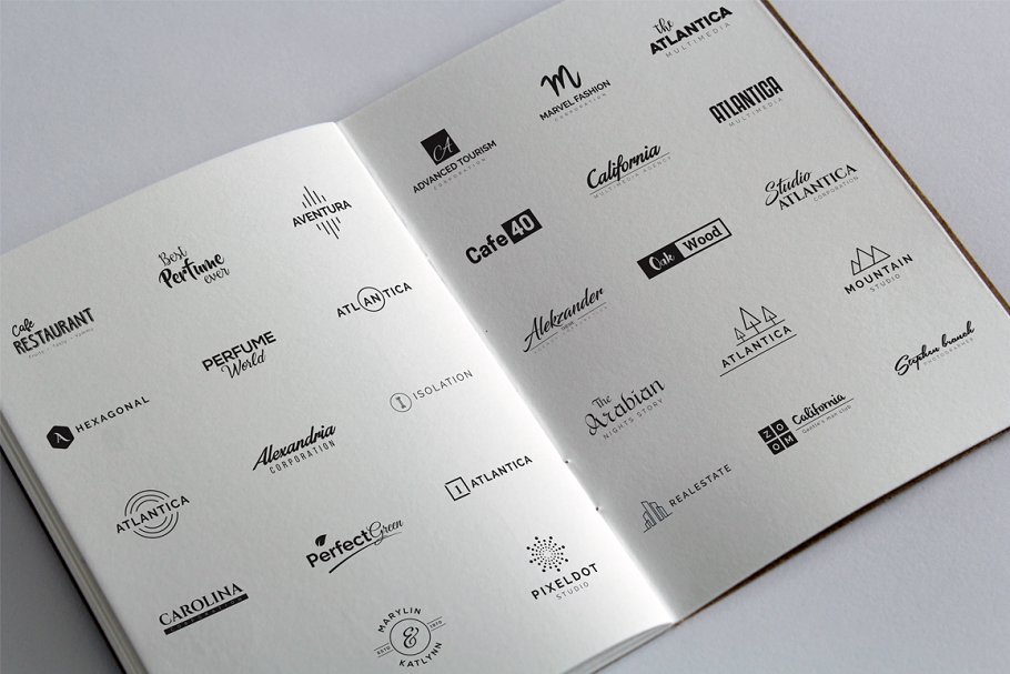 Logo book, which presents options for displaying your logo.