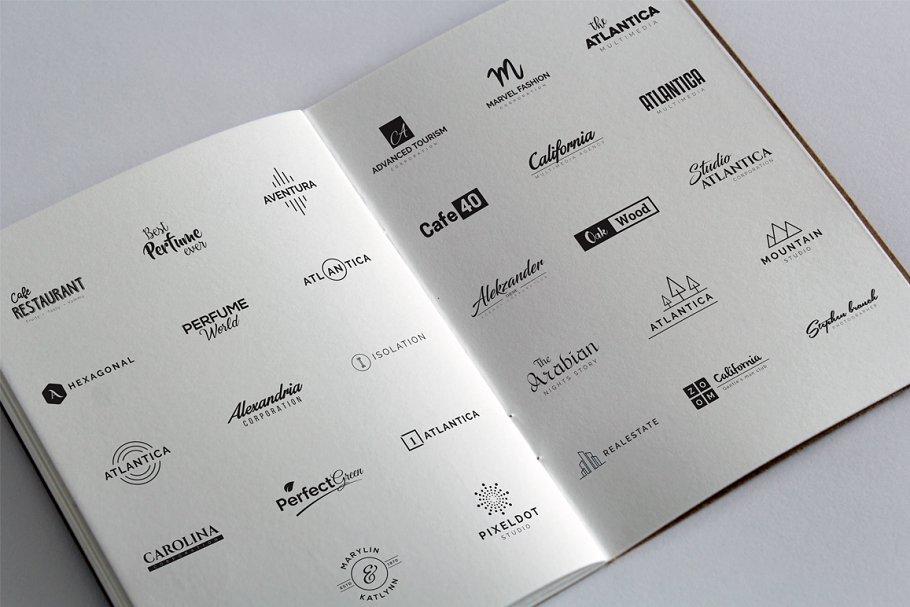 120 Minimal Typography Logos Bundle - b minimal logo design