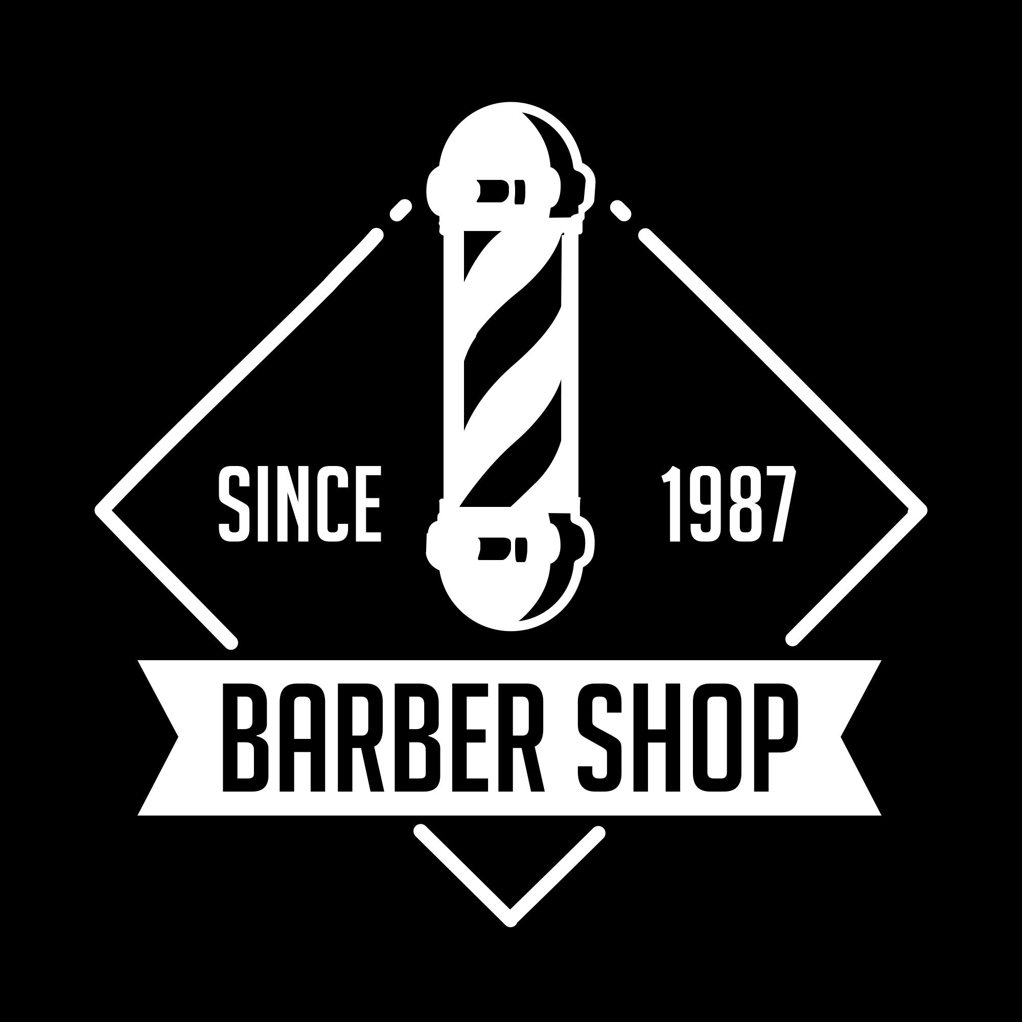 Vintage Barber Shop Logo PNG & EPS - barber01