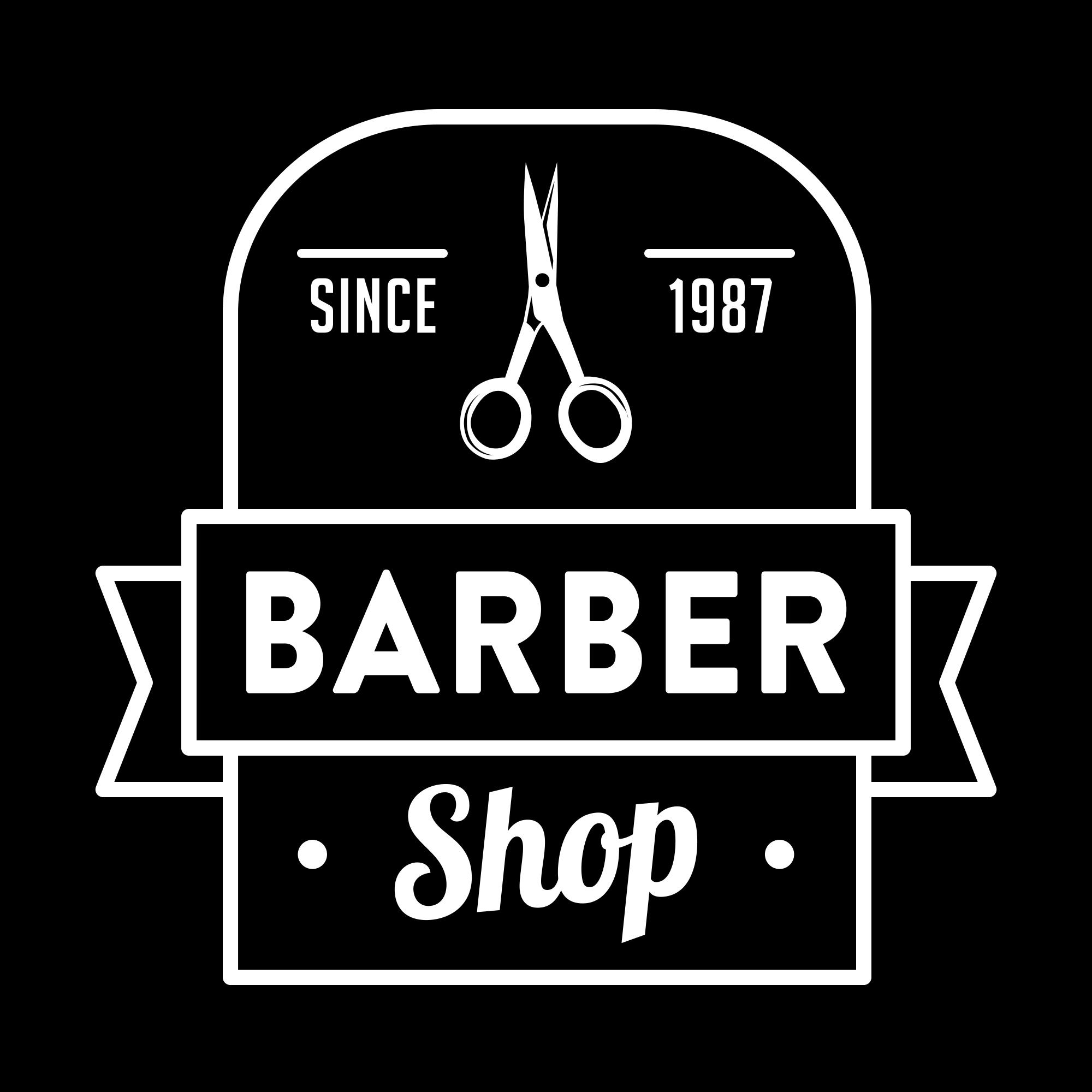 Vintage Barber Shop Logo PNG & EPS - barber03