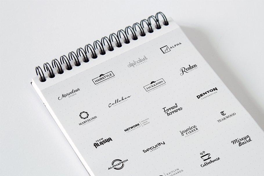 120 Minimal Typography Logos Bundle - c minimalist logo design