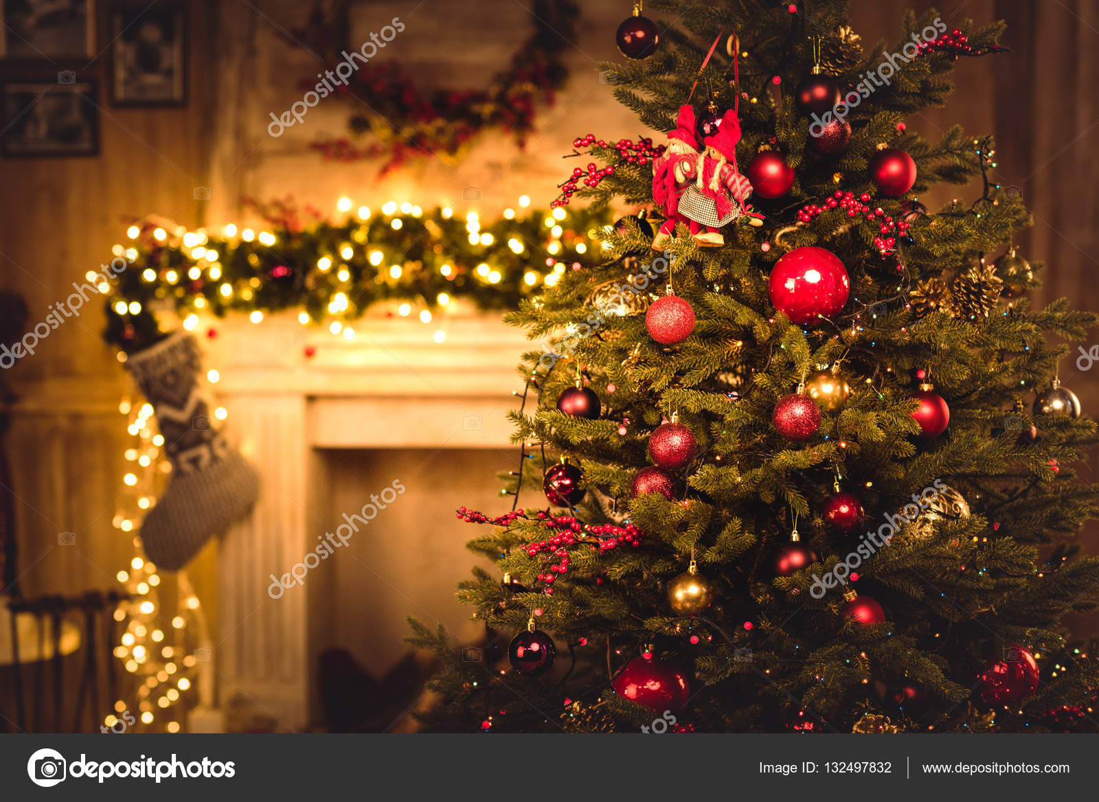 Christmas Stock Photos & Images. Photo Deal: 100 Royalty-free Photos & Vectors - $69! - depositphotos 132497832 stock photo christmas decorations hanging on fir