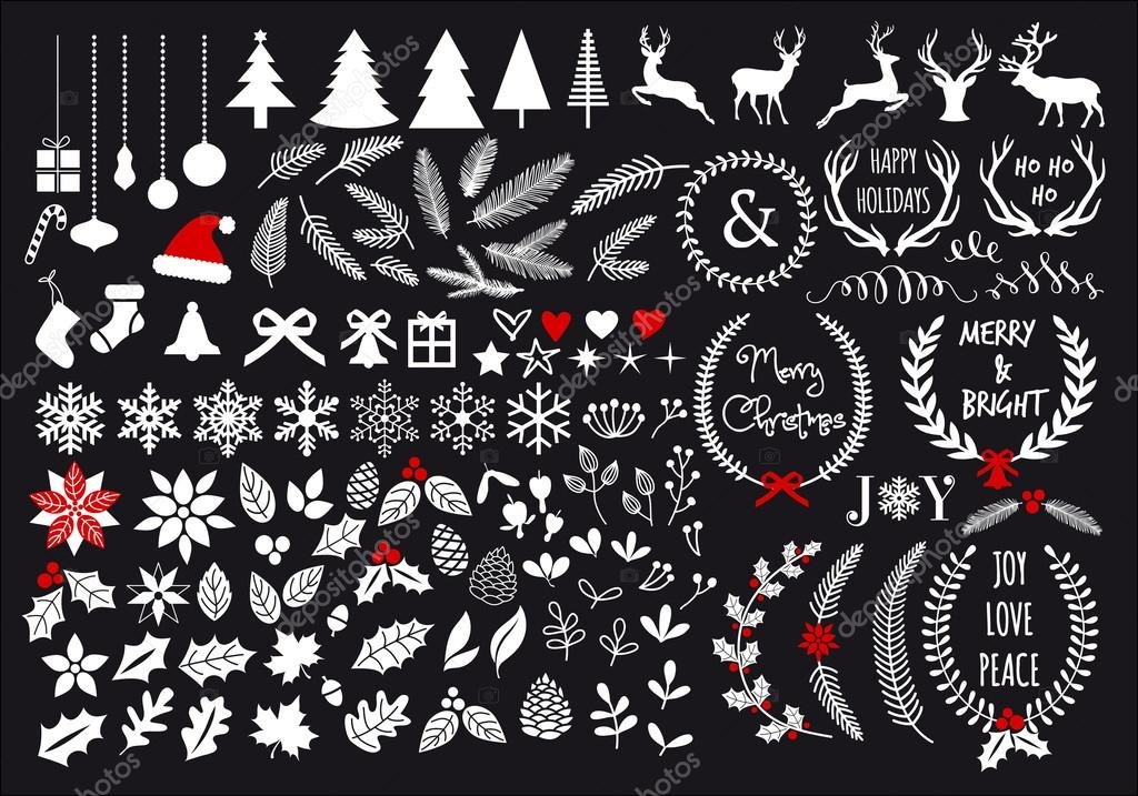 Christmas Stock Photos & Images. Photo Deal: 100 Royalty-free Photos & Vectors - $69! - depositphotos 58593785 stock illustration big white christmas set vector