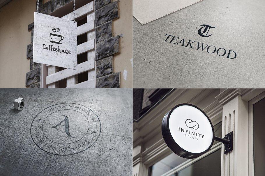120 Minimal Typography Logos Bundle - g store logo minimal