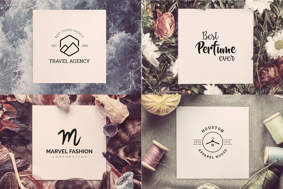 120 Minimal Typography Logos Bundle - h agency logo minimal