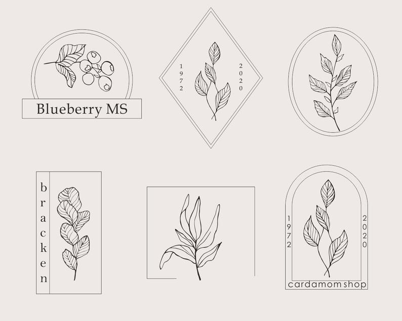 29 Floral Elements Vector: 15 Floral Elements, 8 Frames and 6 Combinations - il 794xN.2731876318 79ty