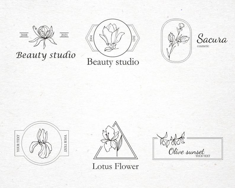 Vintage Floral Logo: 31 Floral Elements for Logo SVG - il 794xN.2753753615 9kwo