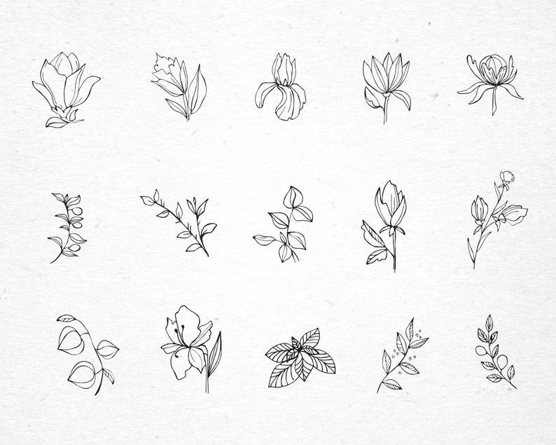 Vintage Floral Logo: 31 Floral Elements for Logo SVG - il 794xN.2753753735 d09f