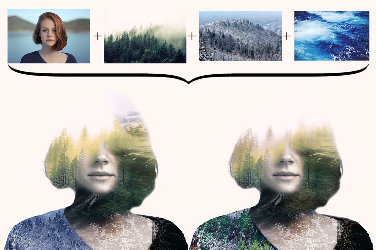 Multiple Exposure Photoshop Effect