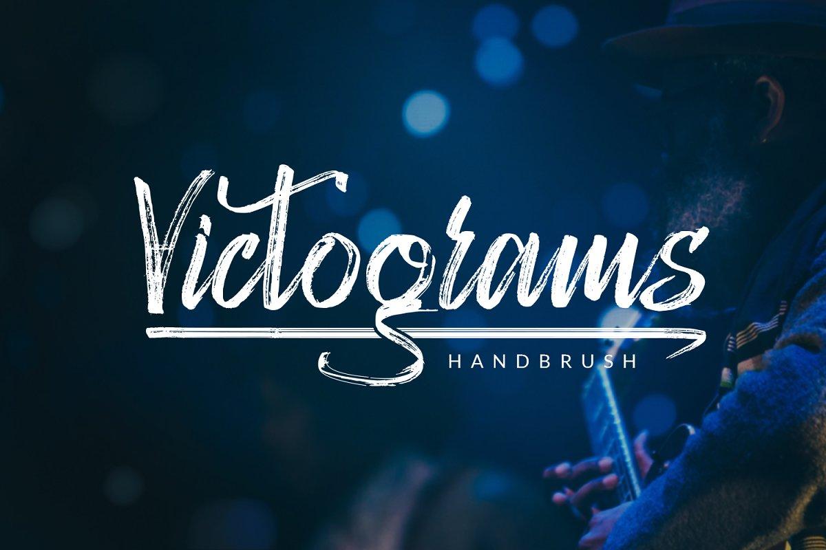 Handbrush Lettering: Victograms Handbrush Font - preview1