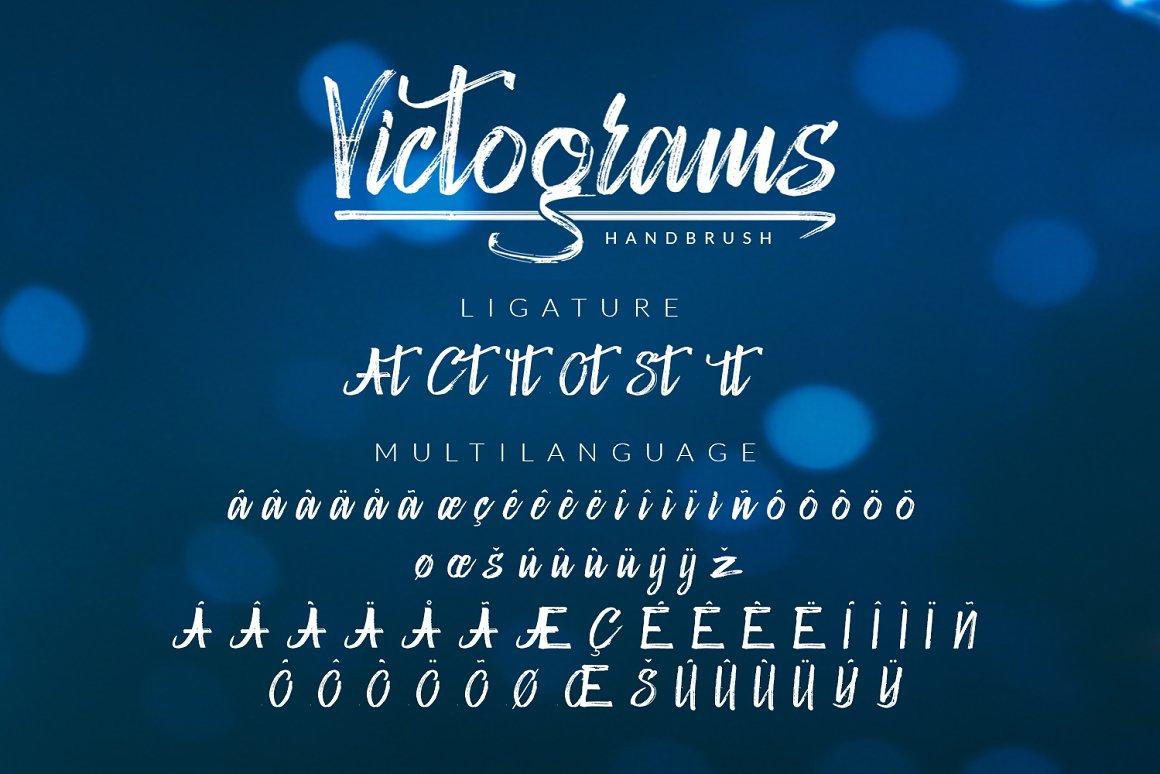 Handbrush Lettering: Victograms Handbrush Font - preview11