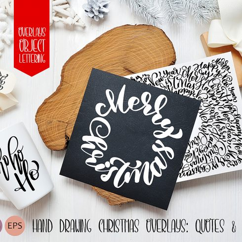 Hand Drawing Merry Christmas Lettering and Doodle Elements - title 01 1 490x490