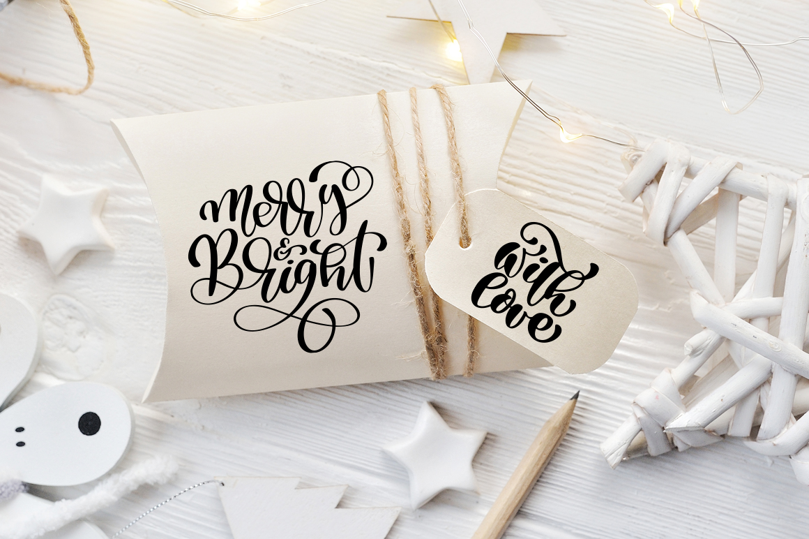 Hand Drawing Merry Christmas Lettering and Doodle Elements - title 04