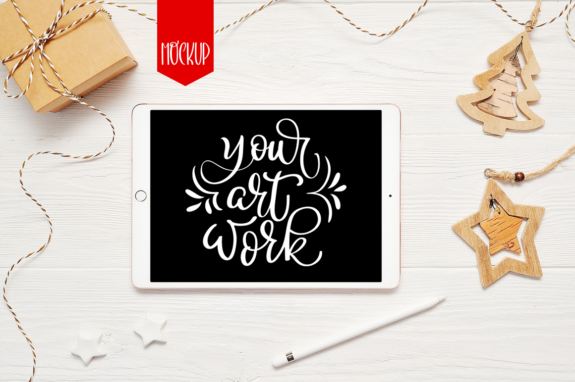 Christmas iPad Mockup PSD - title 1 13
