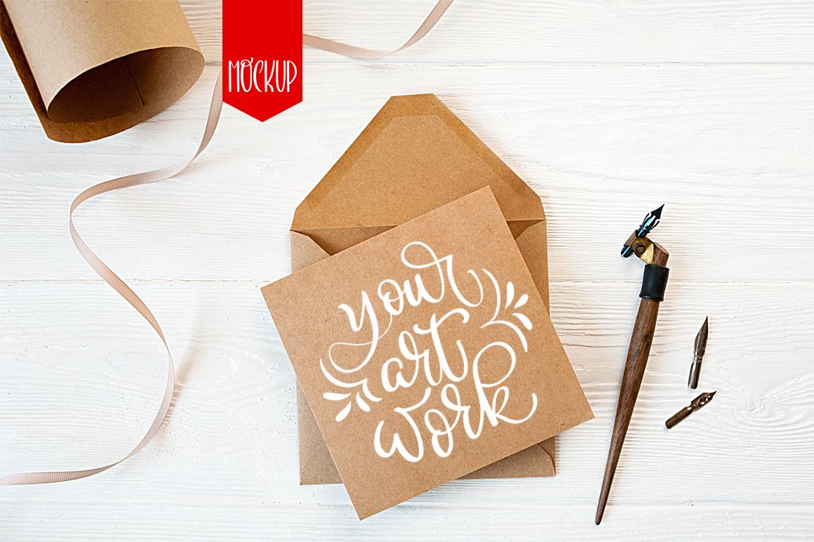 Letter Mockup: Envelope Letter Mock Up - title 1 14