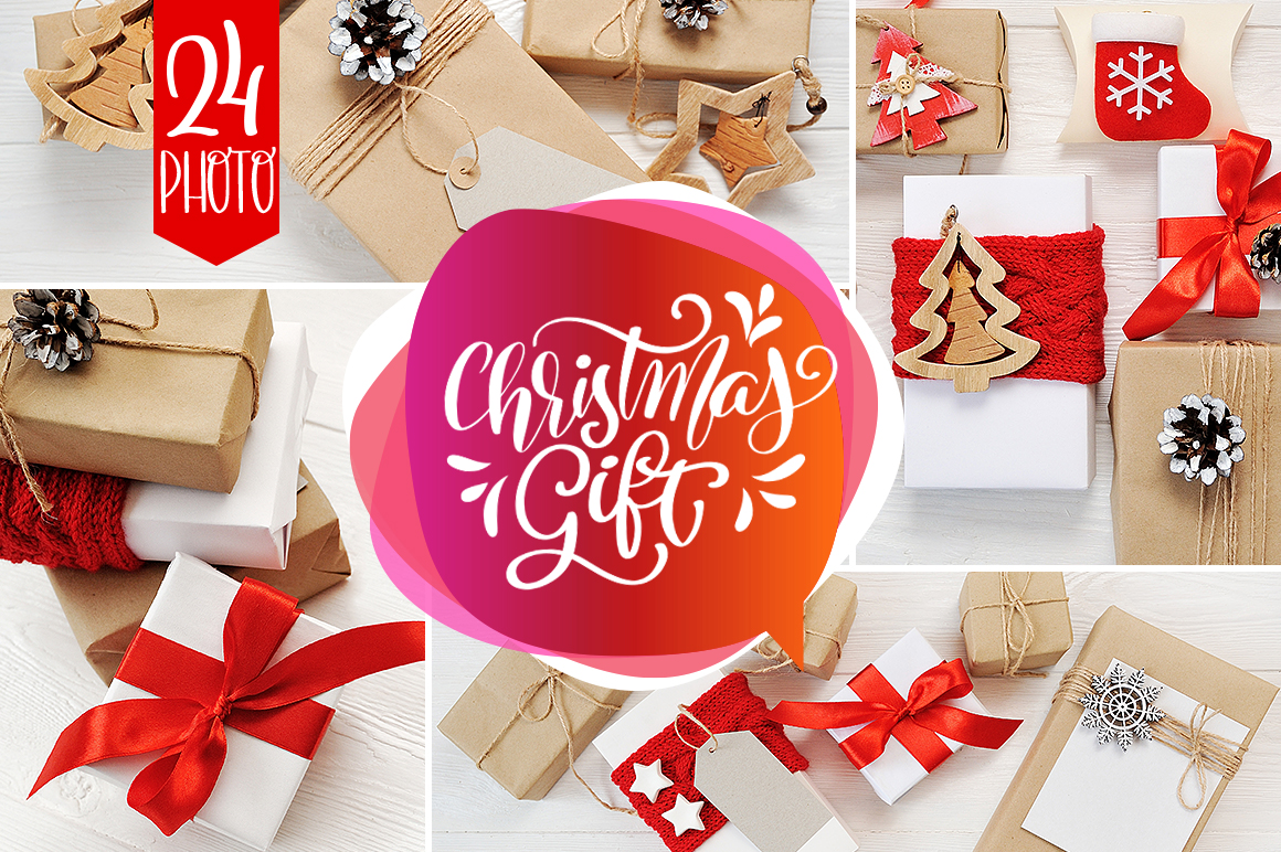 Christmas Cover Photo: 24 Christmas Gift Mock Up files - title 1 6