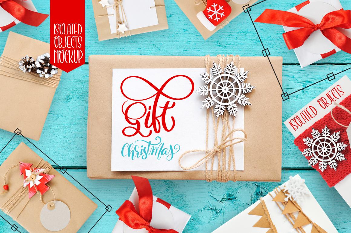 Isolated Gift Christmas Mock ups - title 1 8