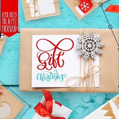 Isolated Gift Christmas Mock ups