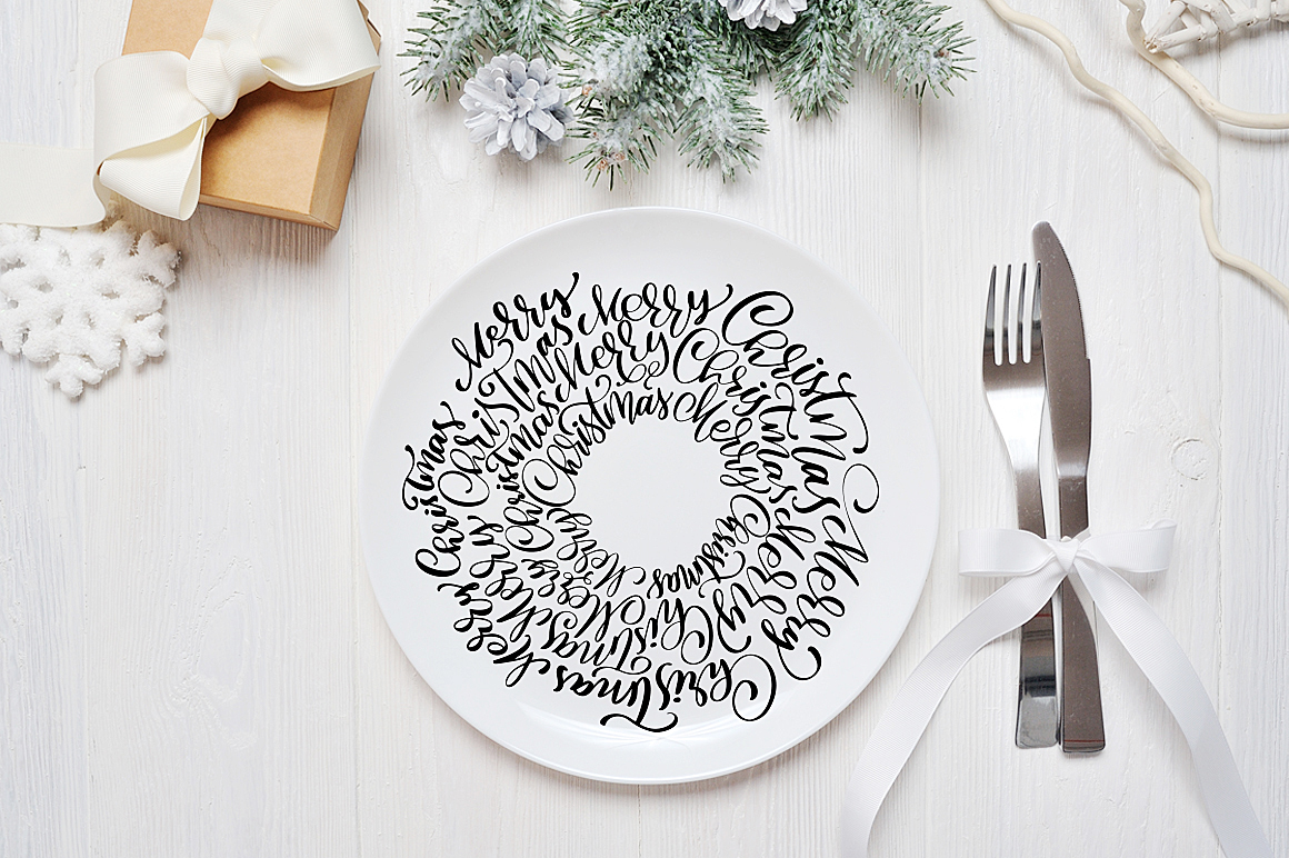 Hand Drawing Merry Christmas Lettering and Doodle Elements - title 17