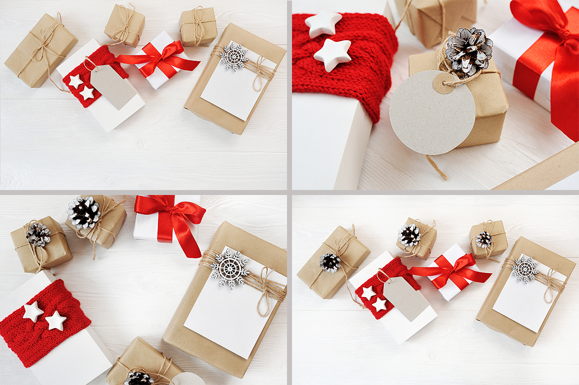 Christmas Cover Photo: 24 Christmas Gift Mock Up files - title 3 3
