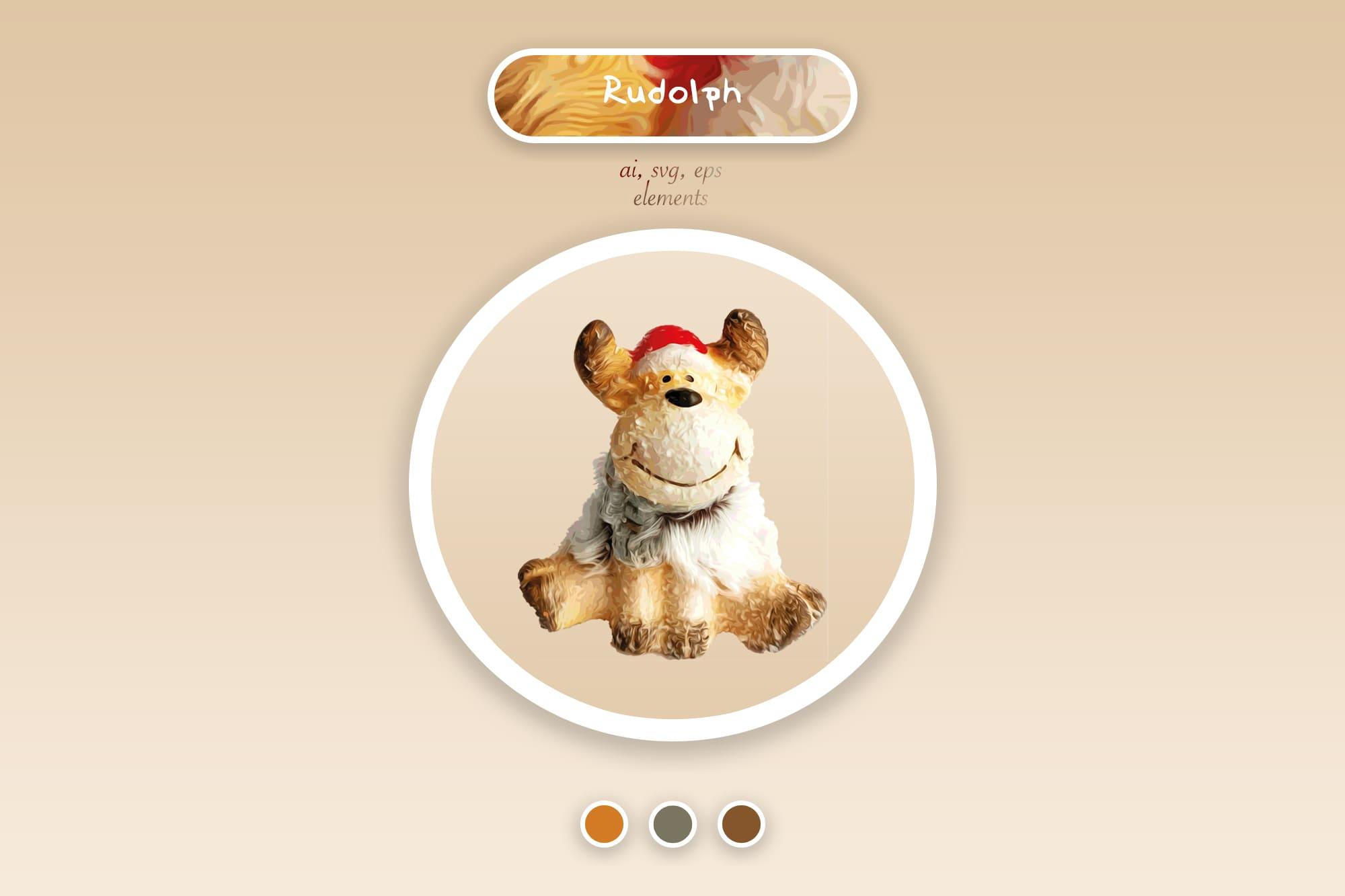 496 Christmas Illustrations: Christmas Vectors Bundle SVG, EPS, AI - xmas reindeer a