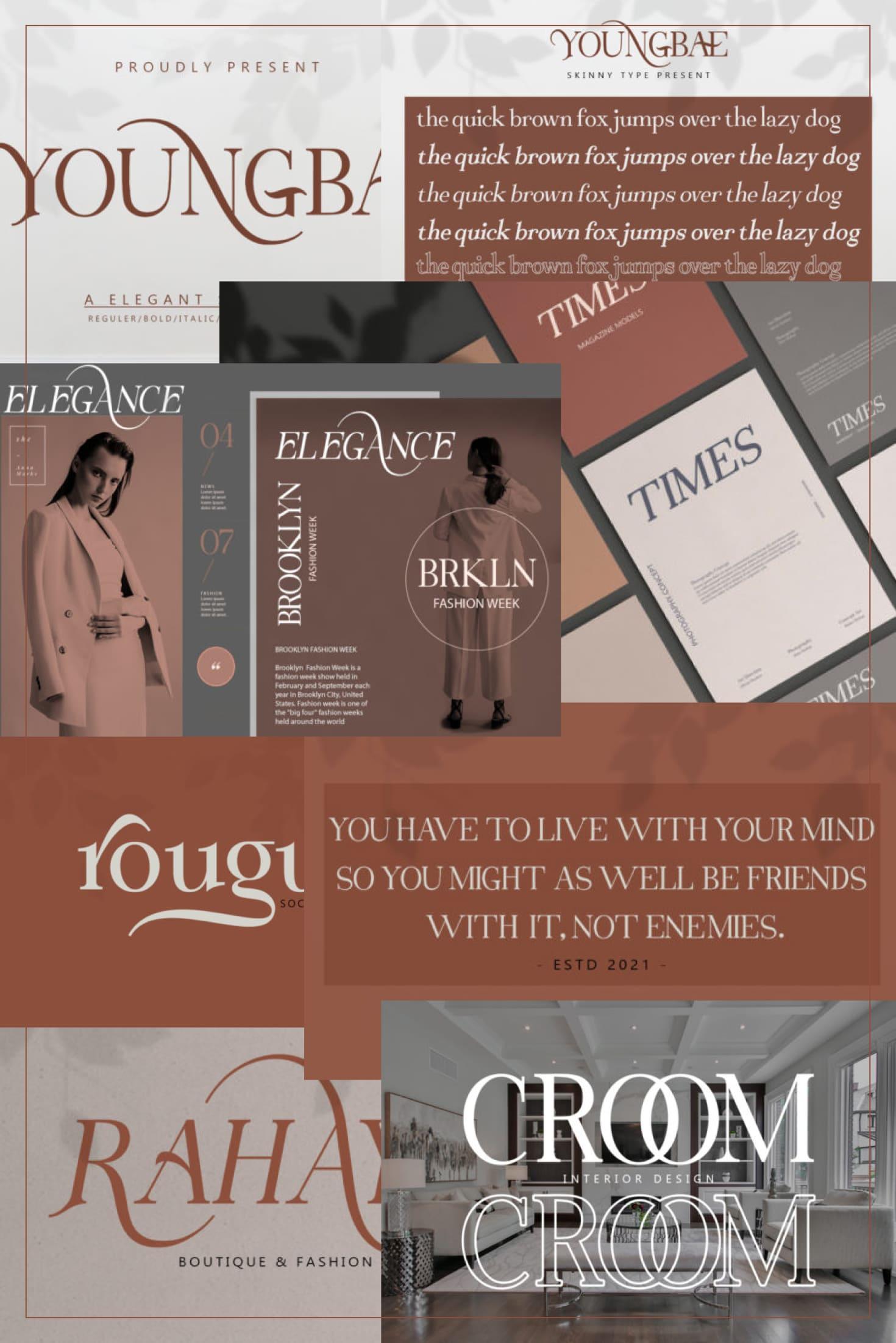 Pinterest Image: Youngbae Modern Regular Font.