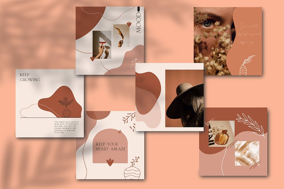 Terracotta Instagram Templates (With 40+ Illustrations & Decorative) - 1 1 1