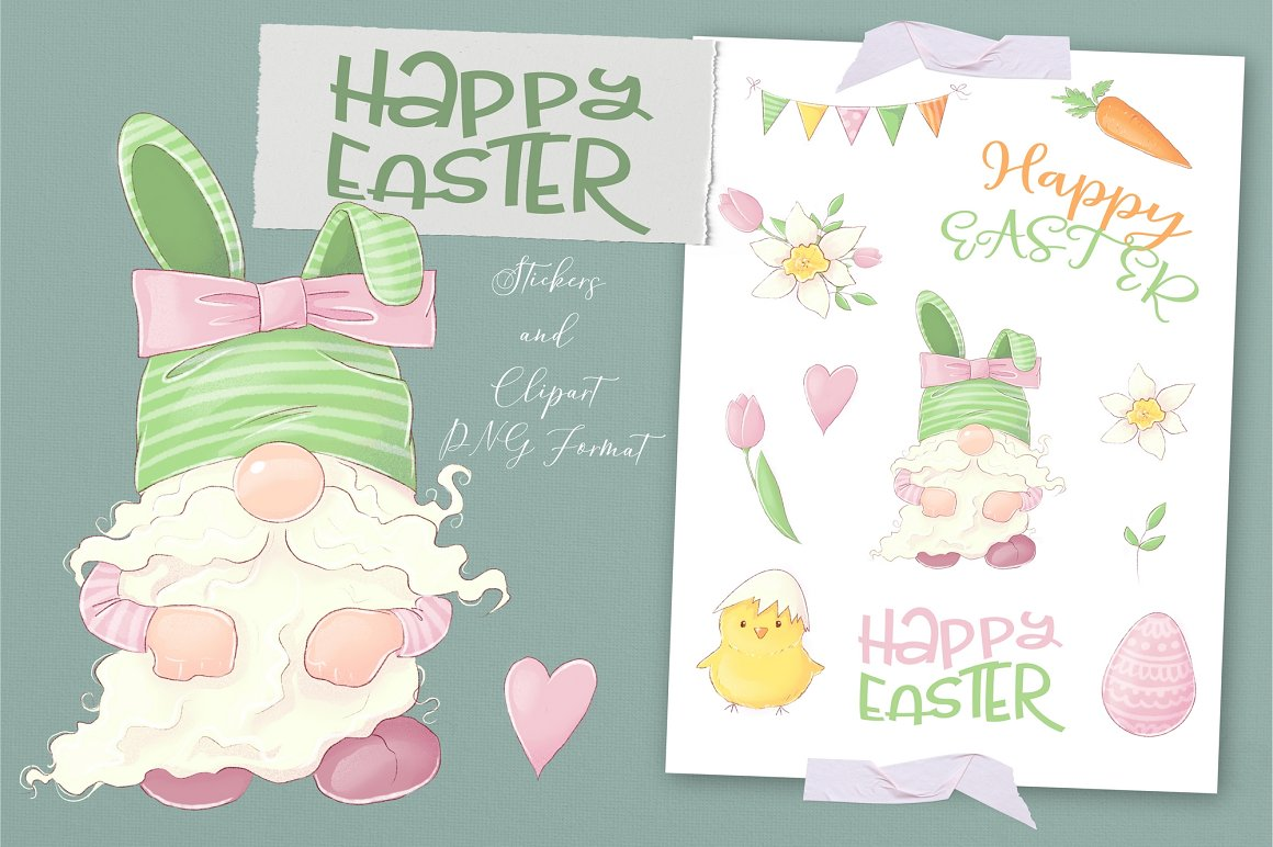 Easter Clipart: Easter Gnome Clipart - 1 1 8