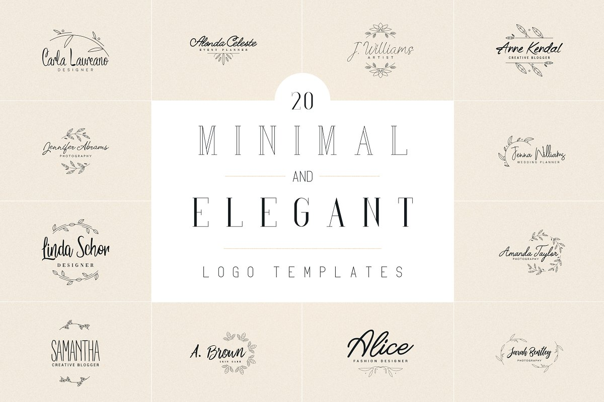 20 Elegance Logo Design Bundle - 1 1 9