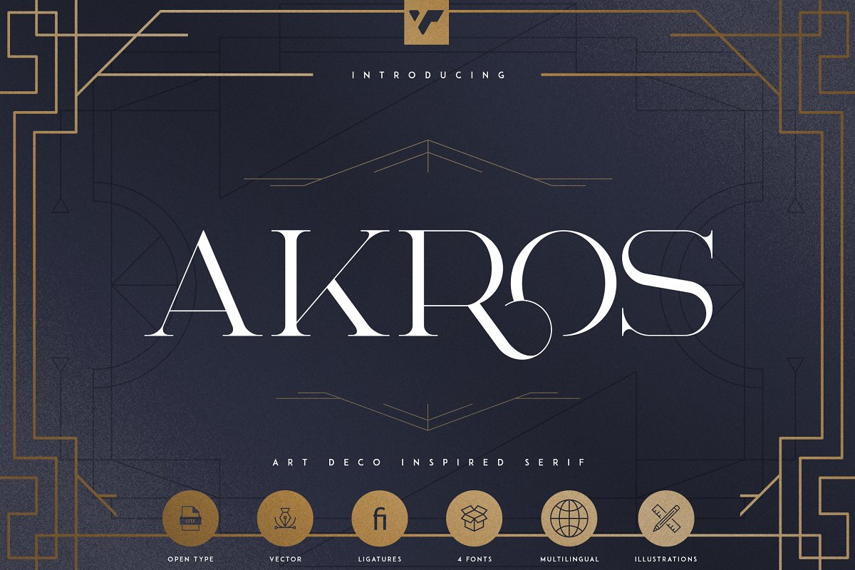 Art Deco Serif Fonts + Extras - 1 3 1