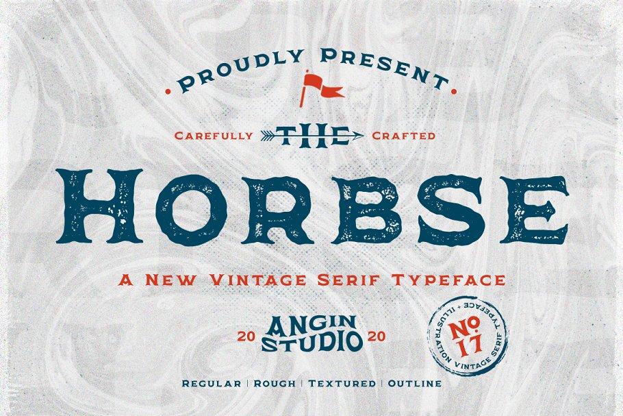 Horbse Vintage Serif Font ( with Illustration ) - 1.cover .png