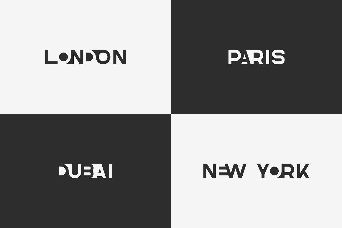 Blackpaper - 1st Negative Space Font - 10 1 4