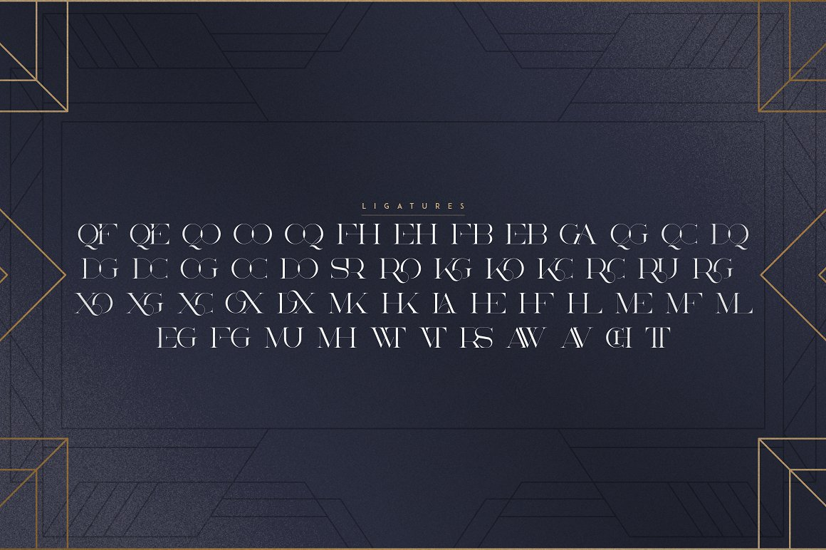 Art Deco Serif Fonts + Extras - 10 1 5