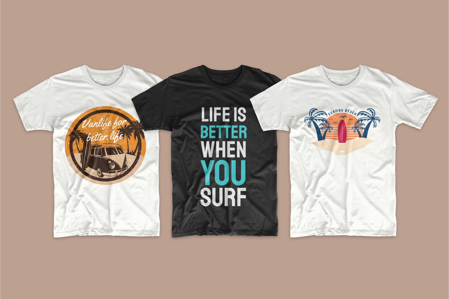 50 Surfing T-shirt Designs - 10 4