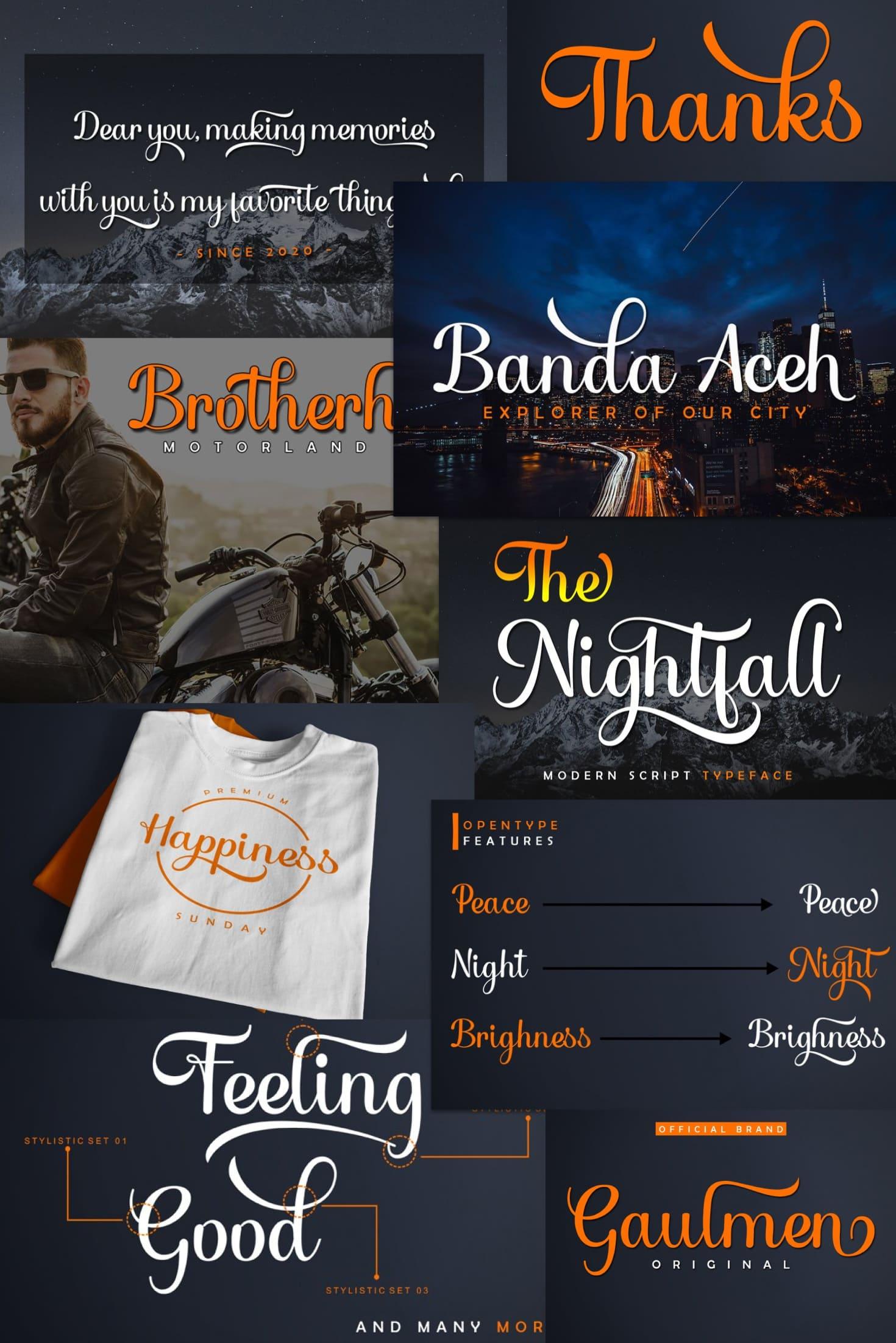 Pinterest Image: The Bold Font Nightfall OTF TTF.