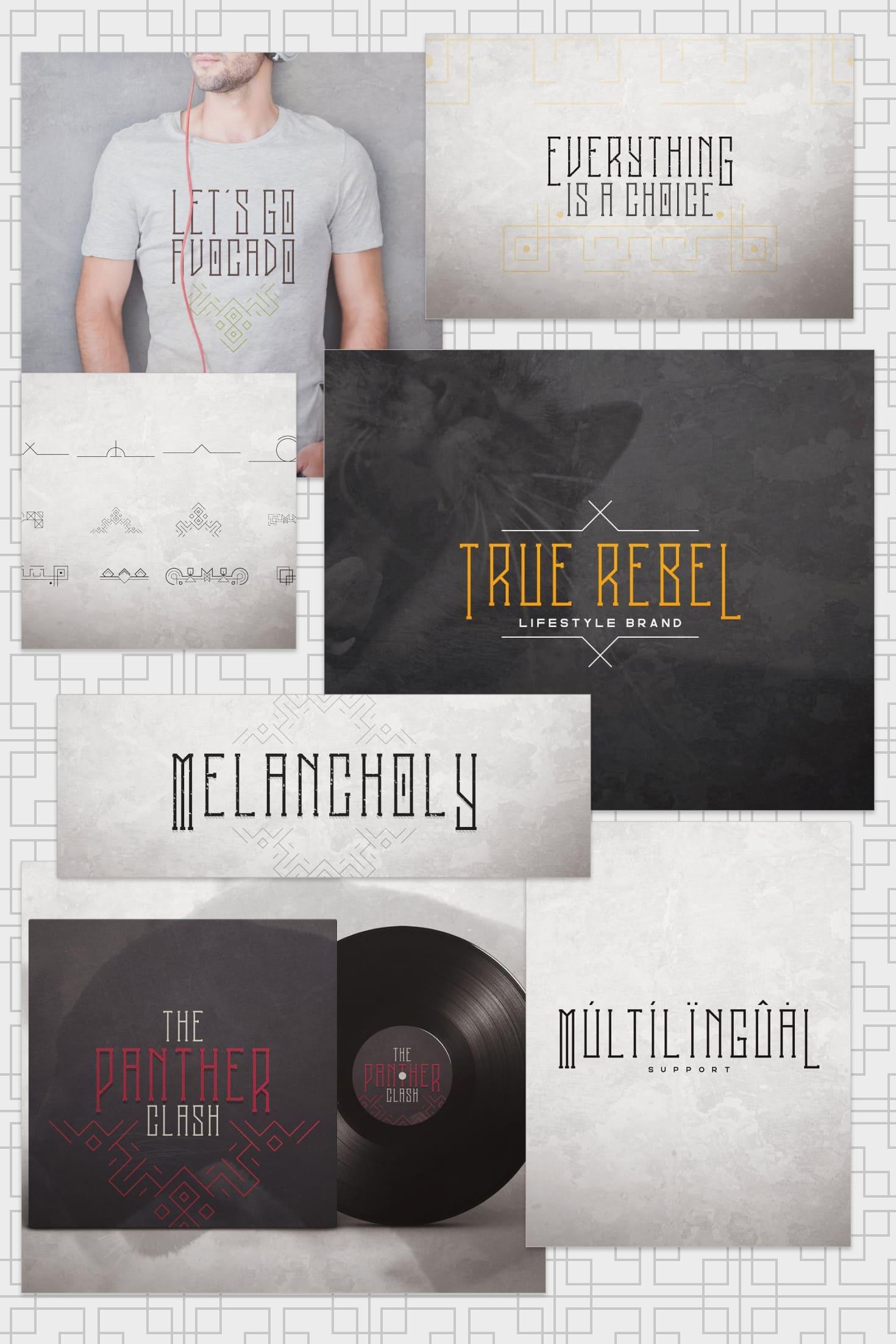 Pinterest Image: Melancholy Display Typeface Psycho + Extras.