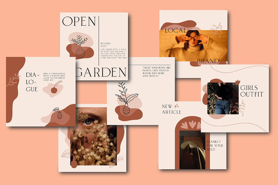 Terracotta Instagram Templates (With 40+ Illustrations & Decorative) - 2 1 1