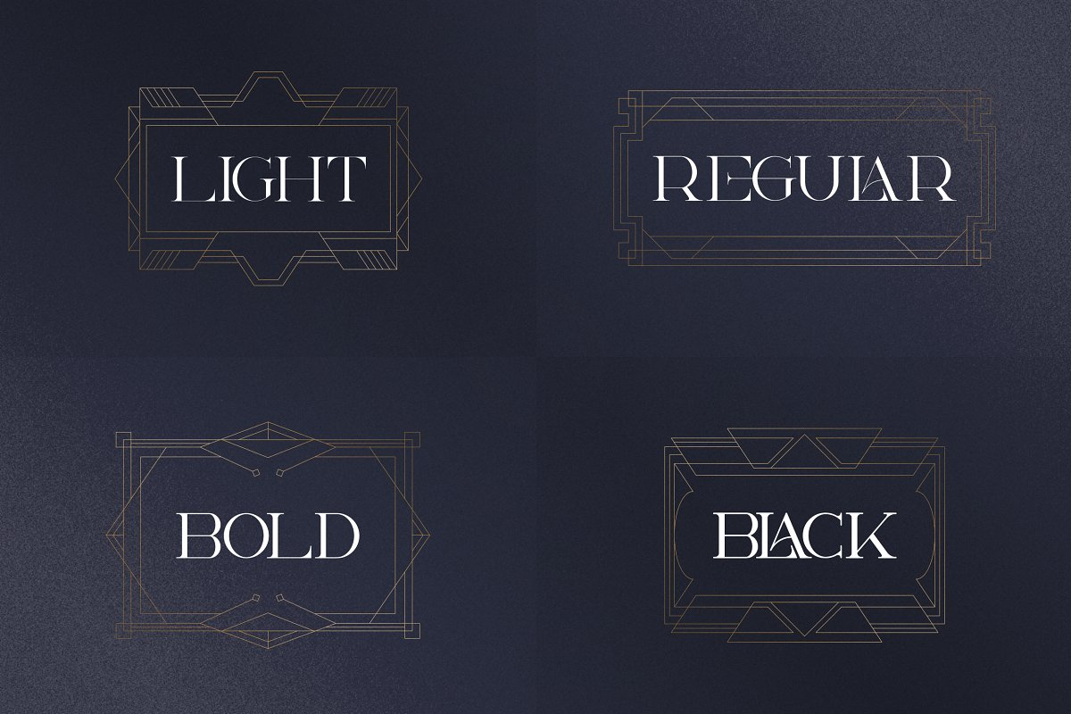 Art Deco Serif Fonts + Extras - 2 1 6
