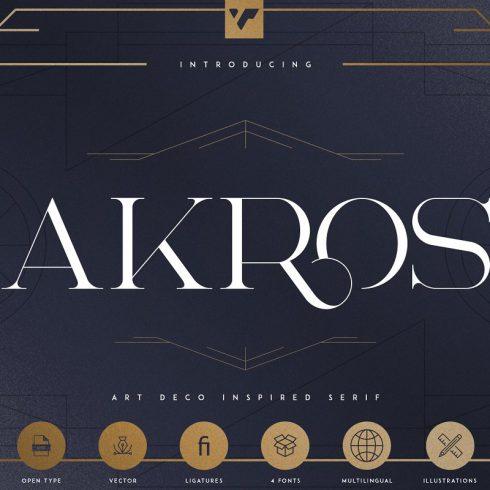 Art Deco Serif Fonts + Extras - 200 490x490