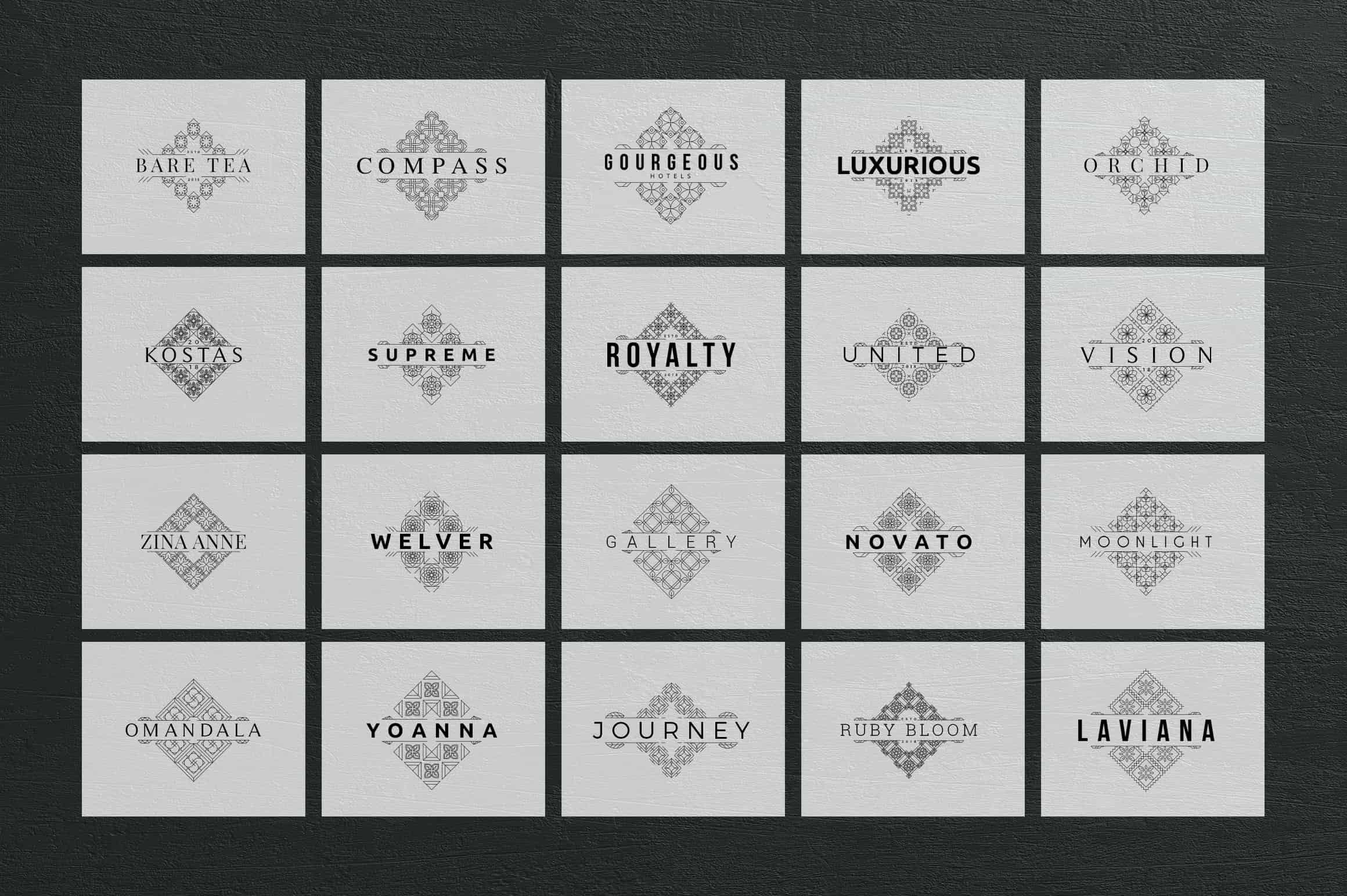 40 SV Mosaic Logo Templates - 23 min