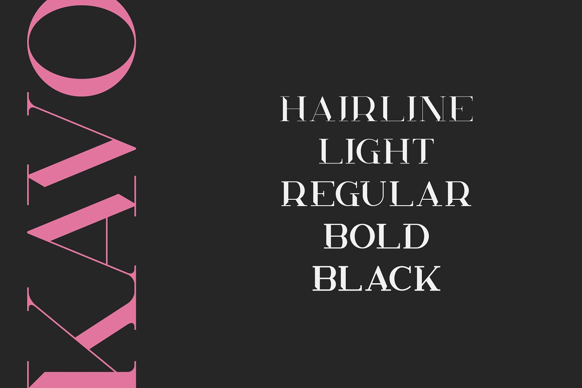 Kavo Styled Serif Typeface Family | 5 fonts - 2a