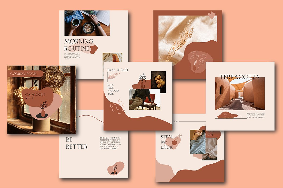 Terracotta Instagram Templates (With 40+ Illustrations & Decorative) - 3 1 1