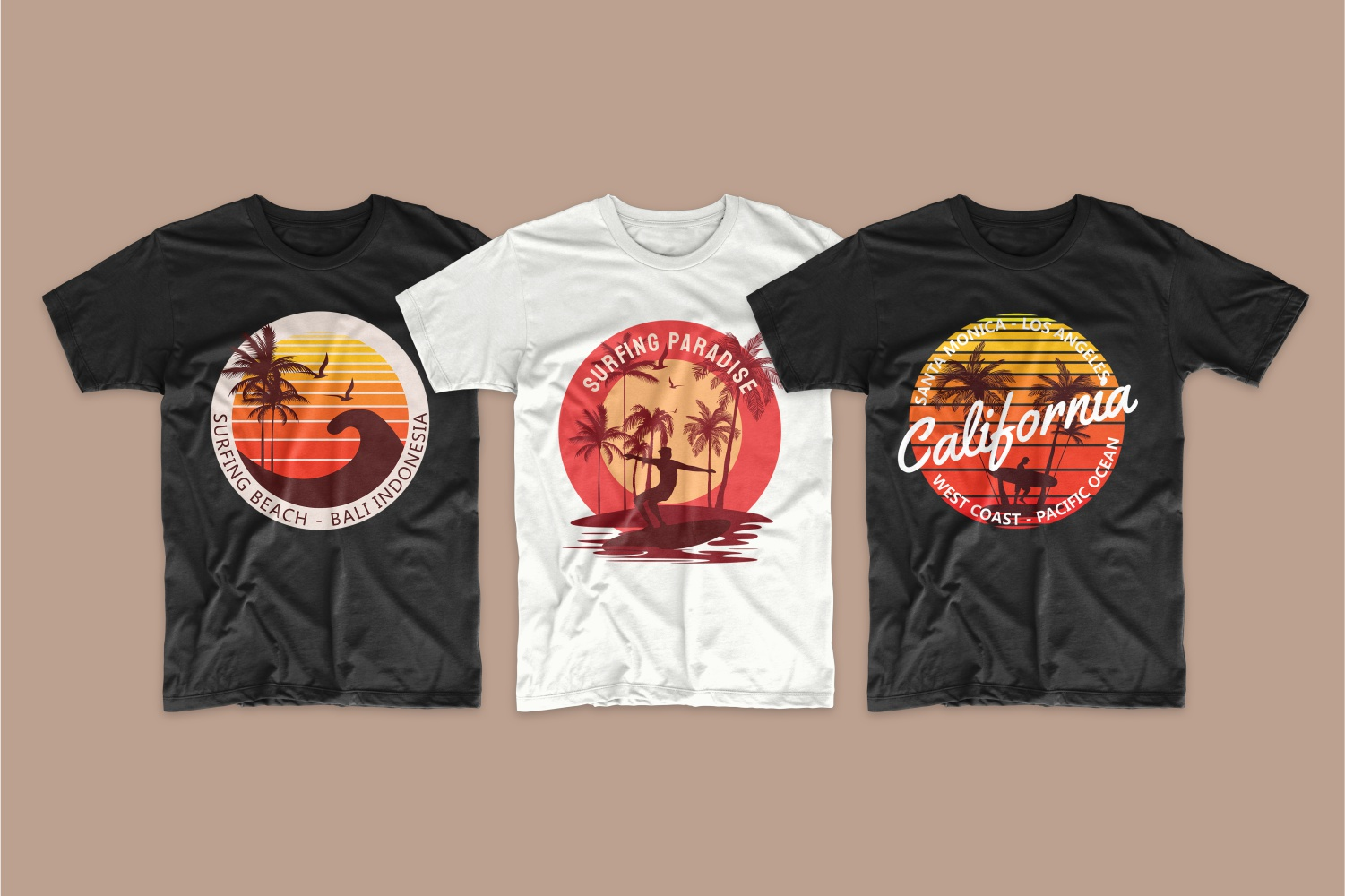 50 Surfing T-shirt Designs - 3 5