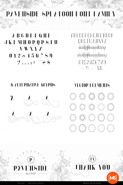Pinterest Image: Ravenside Splatoon Font Family - 13 Fonts with 50% OFF.