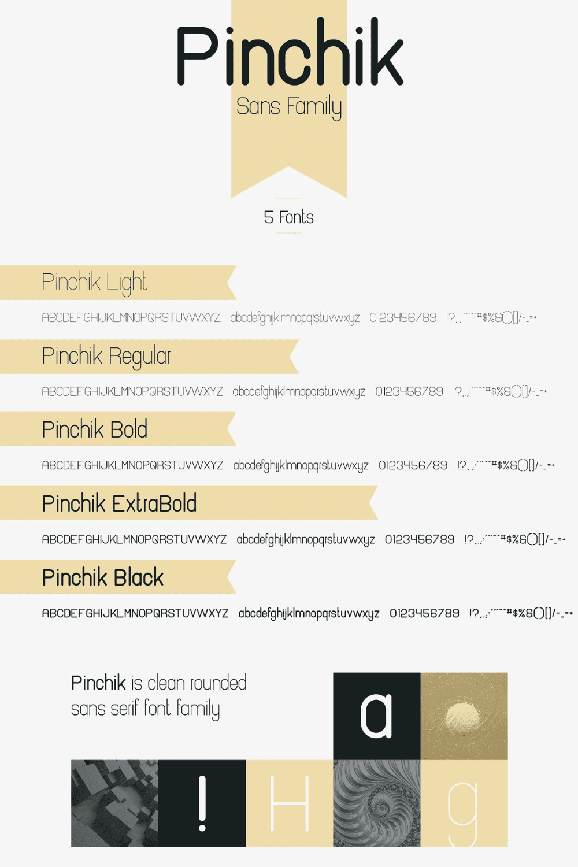 Pinterest Image: Pinchik Freight Sans Font Family (5 fonts) -70%.