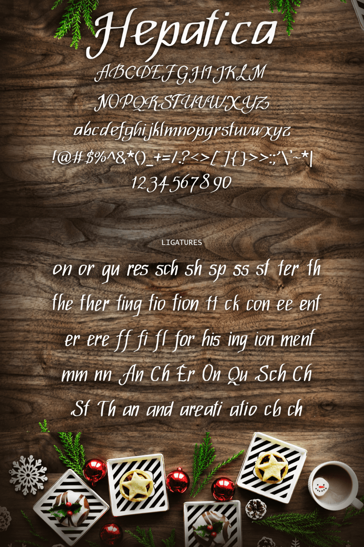 Pinterest Image: Merry Christmas Star Font.