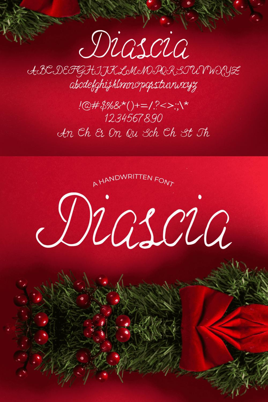 Pinterest Image: Christmas Time Font Diascia.