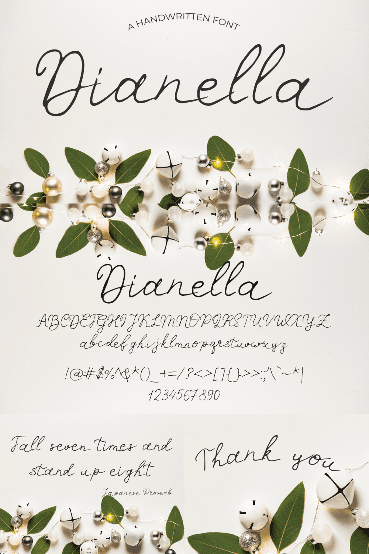 Pinterest Image: Miraculous Christmas Font Dianella.