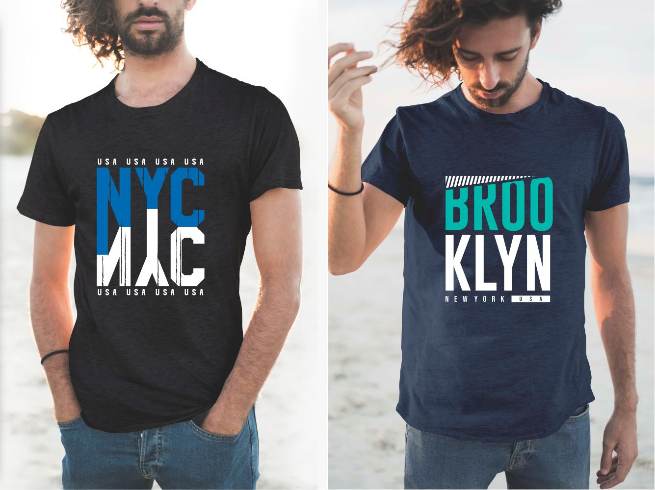 Modern men's T-shirts with beautiful inscriptions and stylish designs.