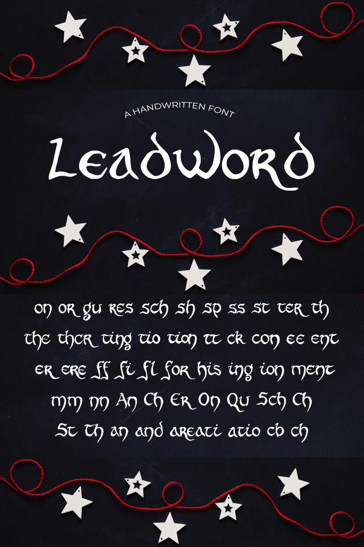 Pinterest Image: New Year Font Leadword.